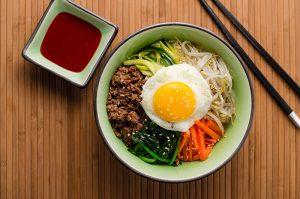 Korean Bibimbap Dish