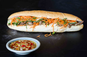 Different Types of Fillings for a Vietnamese Banh Mi Sandwich